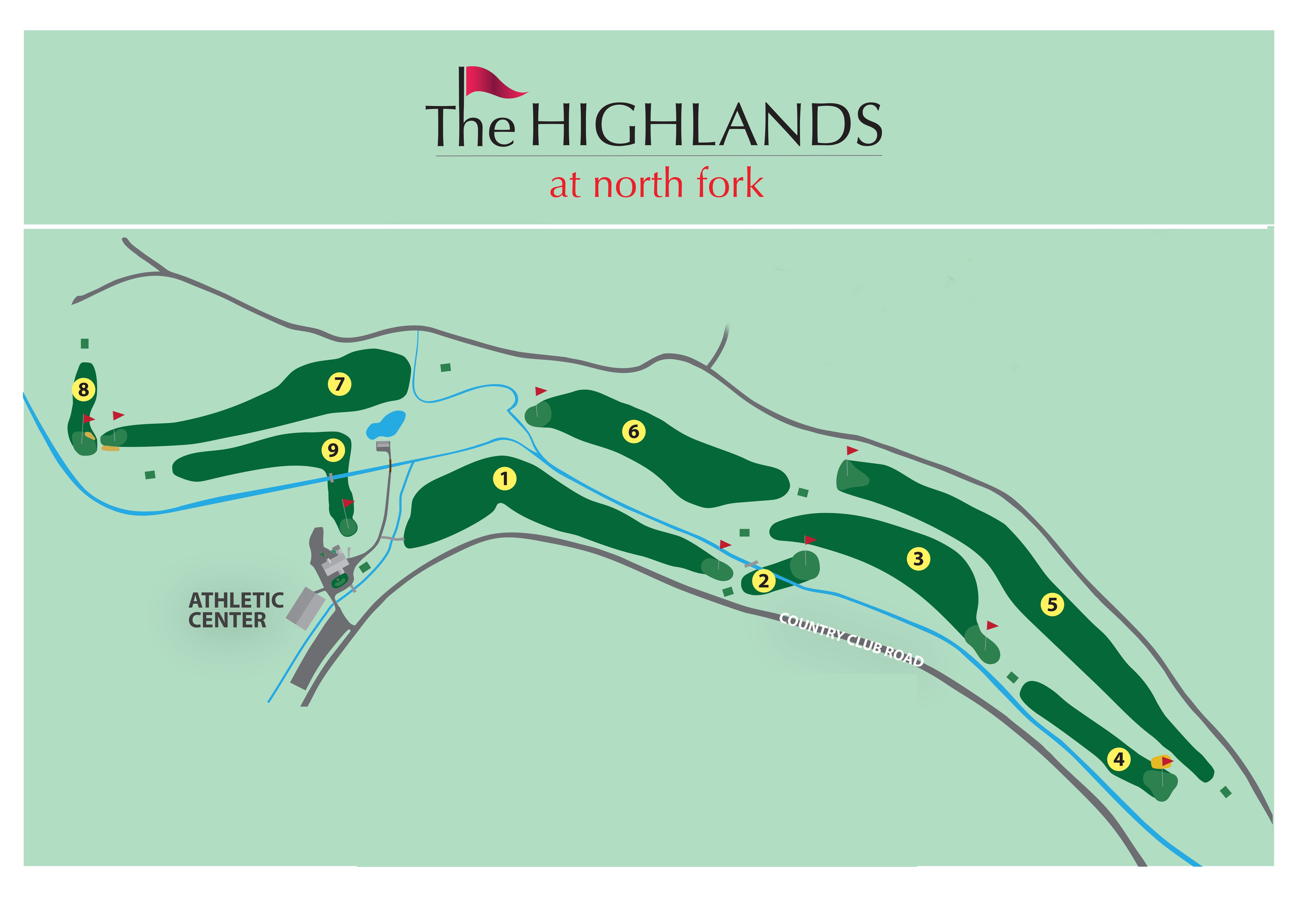 Map of The Highlands 9-hole golf course