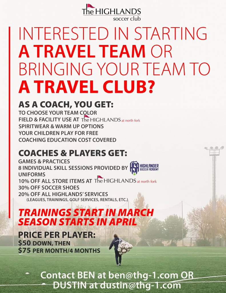 The Highlands Soccer Club Are you interested in coaching or becoming a referee?