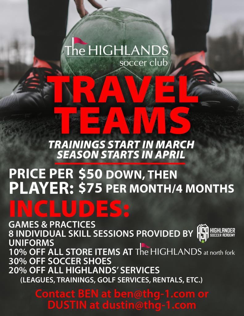 Highlands Soccer Club Travel Teams Information